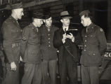 Brooks Hays talking to soldiers in London