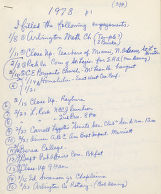 List of engagements from 1978