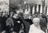 Brooks and Marion Hays with Vice President Hubert Humphrey at Wake Forest University ceremony