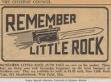 """Remember Little Rock"" Bumper Sticker Advertisement"