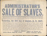 """Sale of Slaves"" Advertisement"