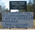 Stony Point Community Church Anti-Gay Marriage Sign