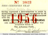 White Citizens' Council Membership Card