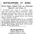 Black Workers Driven from Sawmill Jobs