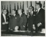 Sen. J. William Fulbright at NATO meeting
