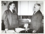 J.W. Fulbright and Bill Peacock