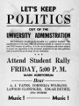 Flyer Denouncing the Ouster of J.W. Fulbright as University of Arkansas President