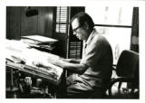 George Fisher at Drawing Table