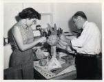 George and Rosemary Fisher Sculpting Puppets