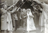 Newlyweds Being Sent Off by Well-wishers