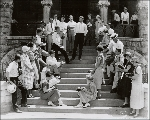 Class in the mid 1920s on steps of Washington County Court House