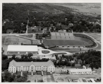 U of A Campus -- Aerial view of Razorback Stadium and Barnhill Field House