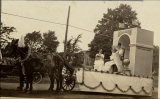 Float in Semi-centennial parade, University of Arkansas, Fayetteville, Ark.
