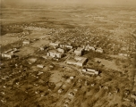 Aerial view - University of Arkansas campus, Fayetteville, Ark.