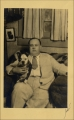 Henry Tovey and his dog