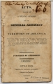 Cover of publication which includes: Act establishing Washington County, Ark.