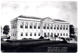Architect's Drawing of Vol Walker Memorial Library
