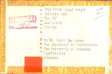 Package Label from Frank Lloyd Wright to Fay Jones