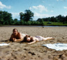 Fay Jones and Gus Jones Sunbathing near Taliesin