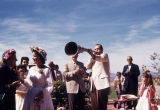 Wes Peters with Horn at Taliesin West Easter Celebration