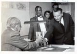 Frank Lloyd Wright Receives a Glass at the University of Arkansas